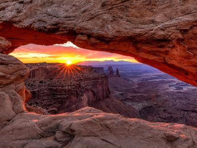 Summer Sunrise Through Mesa Arch