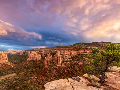 Juniper Ledge Monument Canyon Sunset