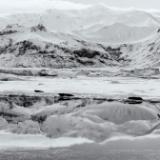 Iceland Winter Wonderland Black and White