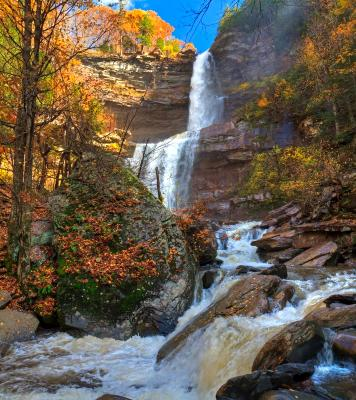Kaaterskill Falls after Autumn Rain