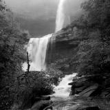 Foggy Kaaterskill Falls (B&W)