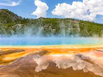 Clouds Reflected in Grand Prismatic Spring