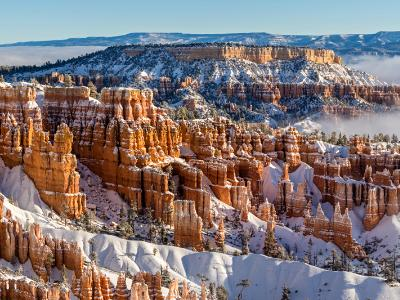 Bryce Canyon Winter Fog Panorama (Click for full width)