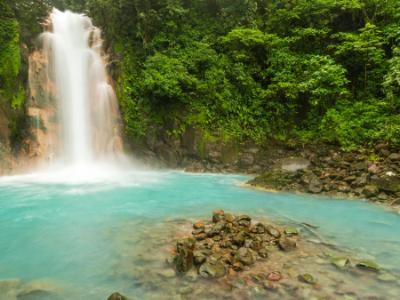 Rio Celeste Waterfall Panorama