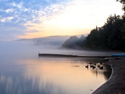 Foggy Adirondack Lake Sunrise