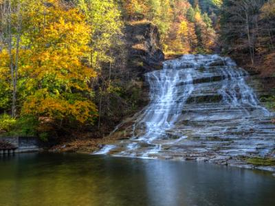 Buttermilk Falls Autumn