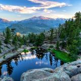 Gem Lake and Longs Peak Sunset