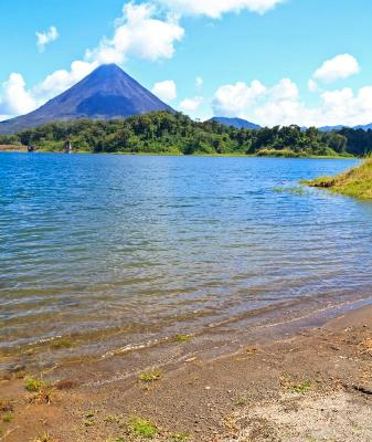 Arenal Volcano and Lake Arenal Beach