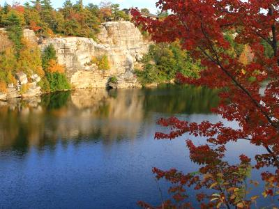 Fall on Lake Minnewaska