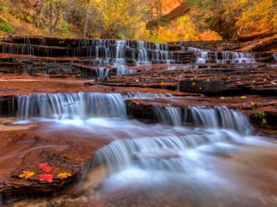 Colorful Archangel Falls Strata on the Left Fork