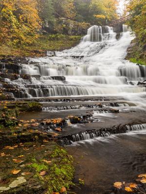 Many Tiers of Rensselaerville Falls