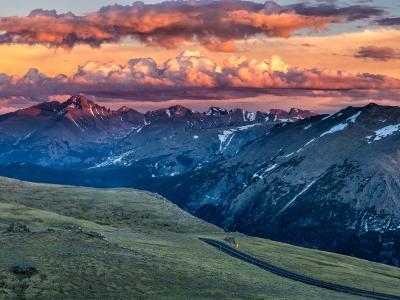 Trail Ridge Road Longs Peak Sunset