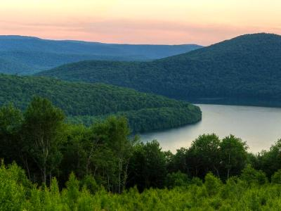 Catskills Soft Reservoir Sunset