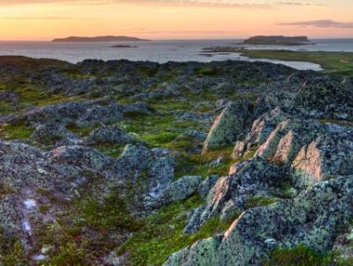 Northern Peninsula Sunset Panorama