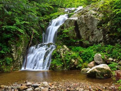 Wedge Brook Waterfall and Rocky Pool