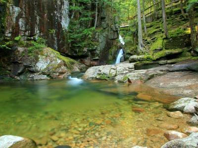 Green Pool below Sabbaday Falls