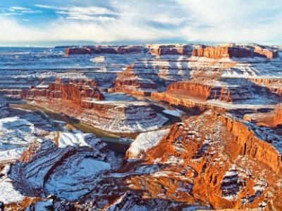 Colorado River Gooseneck in WInter