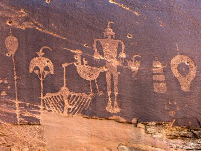Butler Wash Wolfman Petroglyph panel