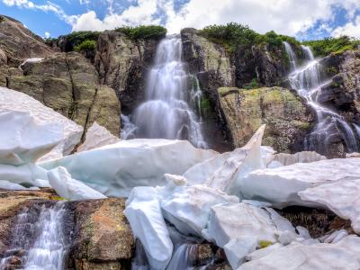 Timberline Falls and Summer Snow