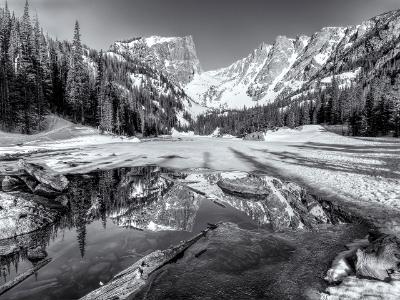 Dream Lake Spring Black & White