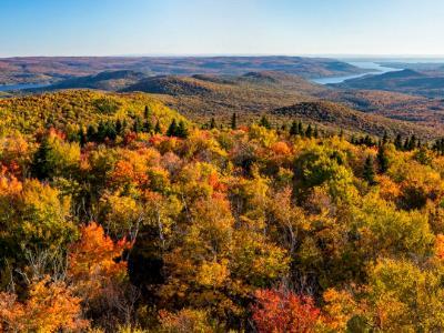 West Mountain and Sacandaga Lake Panorama