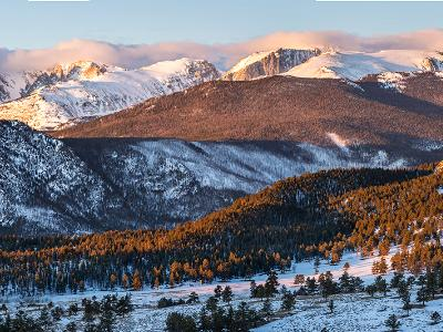 Continental Divide and Moraine Park Panorama (click for full width)