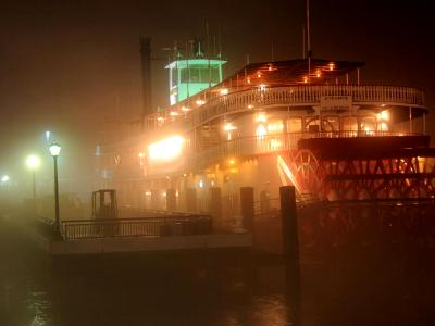 Riverboat Natchez in Fog