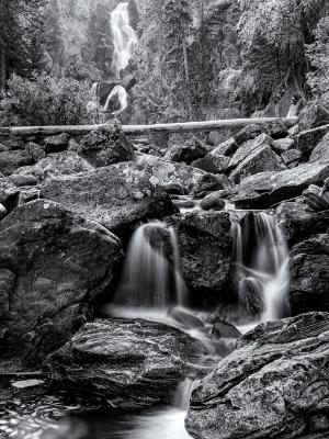 Fish Creek Falls Black & White