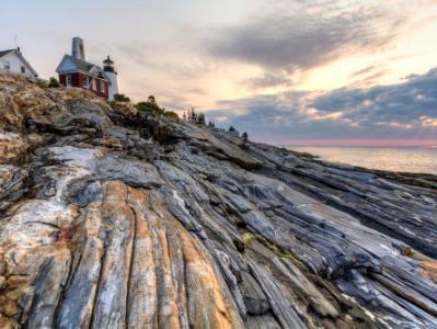 Pemaquid Light Grooved Rocks