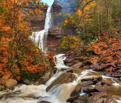 Kaaterskill Falls Autumn HDR