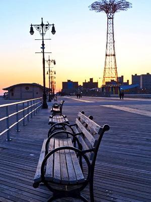 Coney Island Boardwalk Benches