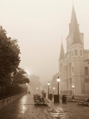 Jackson Square Fog Sepia