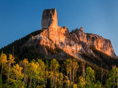 Chimney Rock from True Grit Meadow