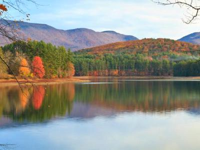 Cooper Lake Autumn Panorama  (Click for full width)