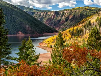 Autumn Color on Ruedi Reservoir