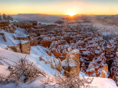 Winter Sunrise over Bryce Canyon Silent City