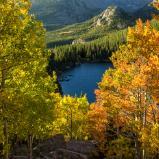 Yellow and Orange Aspens Above Bear Lake