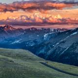 Trail Ridge Road Longs Peak Sunset