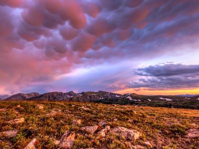Colorful Gore Range Sunset