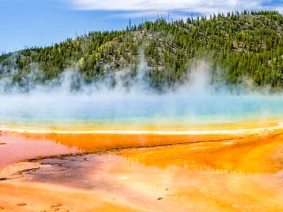Grand Prismatic Spring Panoramic (click for full width)