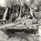 Rifle Falls Black and White