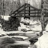 Platte Clove Bridge in Winter