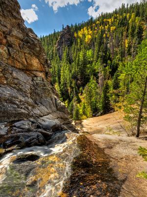 Cow Creek above Bridal Veil Falls in Autumn