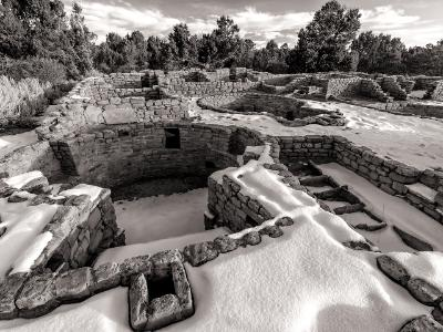 Mesa Verde Coyote Village Black and White