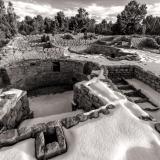 Mesa Verde Coyote Village Black and White