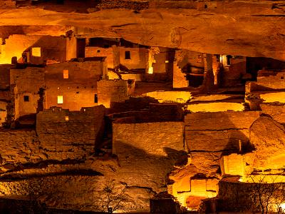 Cliff Palace Luminaria Panorama (click for full width)