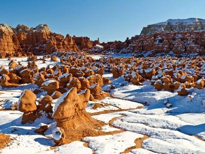 Snow in Goblin Valley