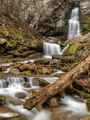 Silky Buttermilk Falls and Log