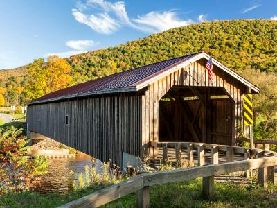 Hamden Covered Bridge in Autumn