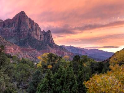 Watchman Autumn Pink Sunset